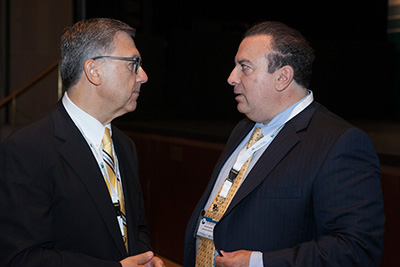 Mr. Kounoupis with the President of the ABA Section of International Law.