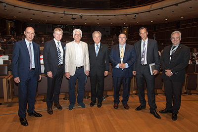Mr. Kounoupis with the Greek Minister of Justice and several other Justices and Greek Chamber members.