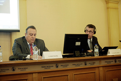 Attorney Kounoupis speaking at the BG of Greece